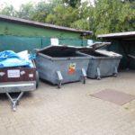 Ukládání odpadků v kempu